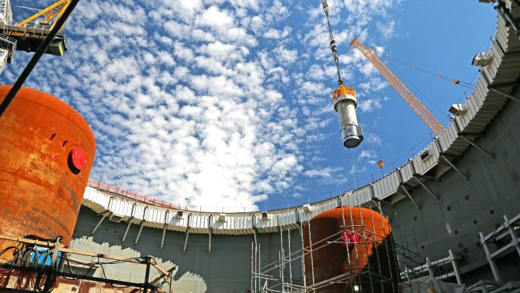jaderná energie - Další milníky projektu jaderné elektrárny Vogtle - Nové bloky ve světě (Vogtle RCP placement Oct 2018 Georgia Power) 1