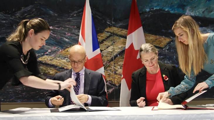 jaderná energie - UK a Kanada podepsali dohodu o jaderné spolupráci - Zprávy (Canada UK November 2018 BEIS) 1