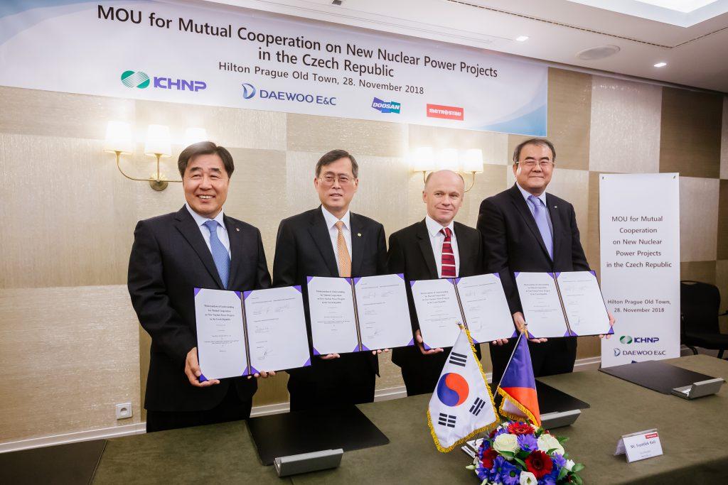 jaderná energie - Korejský prezident se setkal s premiérem Babišem. Ředitel KHNP navštívil Dukovansko a navázal spolupráci s českými dodavateli - Zprávy (KHNP 1) 1