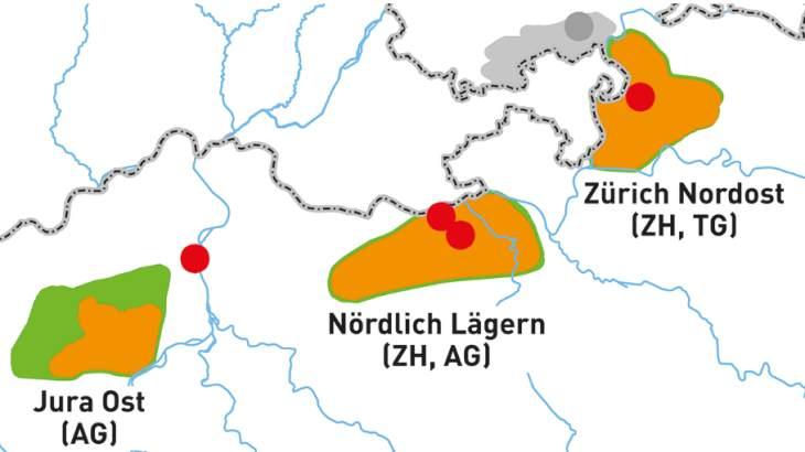 jaderná energie - Výběr lokality švýcarského hlubinného úložiště se přesunul do konečné fáze - Zprávy (Repository search sites Stage 3 Nagra) 1