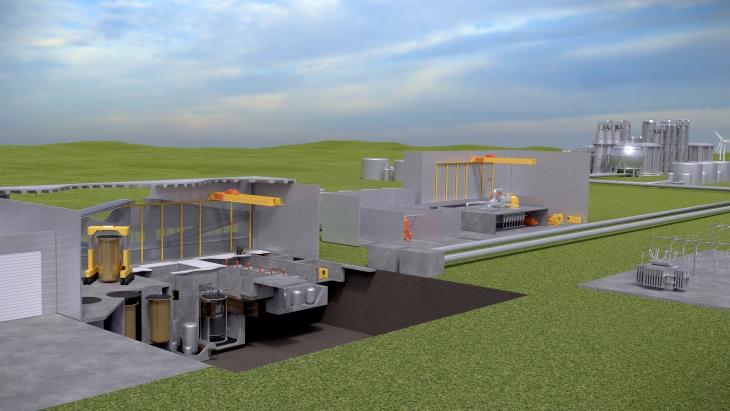 jaderná energie - Společnost Terrestrial podepsala se společností BWXT smlouvu o technické podpoře - Zprávy (IMSR Power Plant 2019 Terrestrial) 2