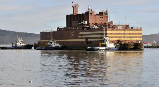 Začalo energetické spouštění plovoucí jaderné elektrárny Akademik Lomonosov