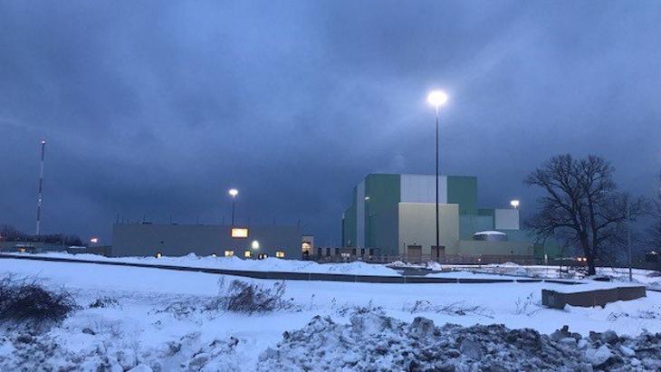 jaderná energie - Americké jaderné elektrárny vyrábí i přes polární vír - Zprávy (Ginna in snow Jan 2018) 1