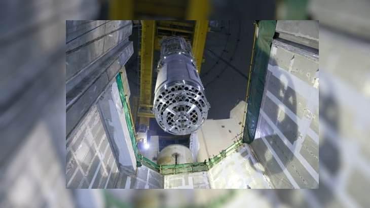 Vnitřní části druhého bloku reaktoru Karachi byly namontovány