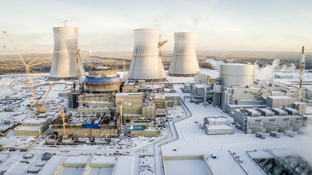 jaderná energie - VLeningradské JE-II byla dokončena betonáž vnitřku kontejnmentu - Nové bloky ve světě (LAES II leden2019 1024) 1
