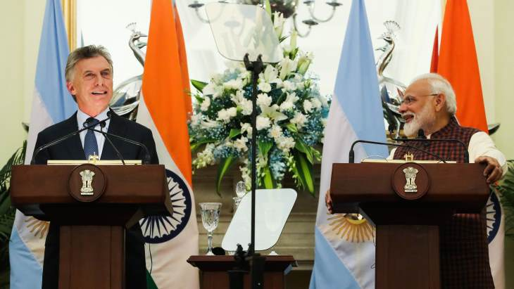jaderná energie - Indie a Argentina při budoucí spolupráci v jaderné energetice - Zprávy (Macri and Modi February 2019 Argentine Ministry of Foreign Affairs) 1