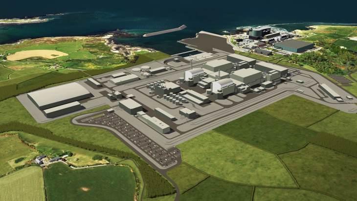 jaderná energie - Spojené království odhalilo podmínky, nabídnuté společností Hitachi - Zprávy (Wylfa Newydd CGI aerial Horizon) 2