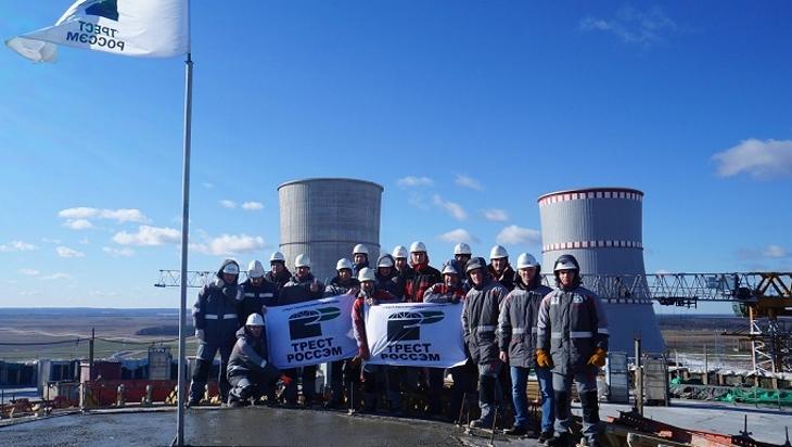 jaderná energie - Běloruské bloky dosáhly stavebních milníků - Zprávy (Ostrovets workers Belarus Rosatom) 1