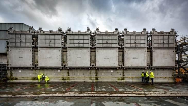jaderná energie - V Silu jaderného paliva Sellafield bylo instalováno zařízení na vyhledávání odpadu - Zprávy (Sellafield PFCS retrieval modules March 2019 Sellafield Ltd) 1