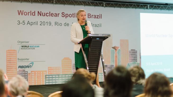 jaderná energie - Brazilské setkání se zaměřuje na jaderné výhody - Zprávy (Agneta Rising Spotlight Brazil April 2019 World Nuclear Association) 1