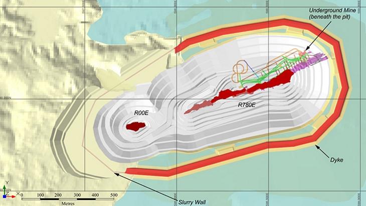jaderná energie - Oznámení prvních rezerv v dole Patterson Lake - Zprávy (Patterson Lake South pit configuration Fission Uranium) 3