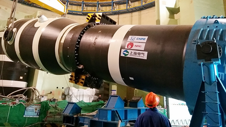 jaderná energie - Čína instaluje parogenerátory na šestém bloku elektrárny Tchien-wan - Zprávy (Tianwan steam generator CNNC) 2