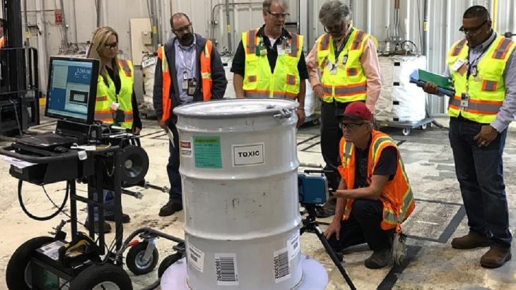 jaderná energie - Nová technologie umožňuje lepší charakterizaci odpadů z in-situ - Zprávy (Waste container characterisation DOE EM) 1