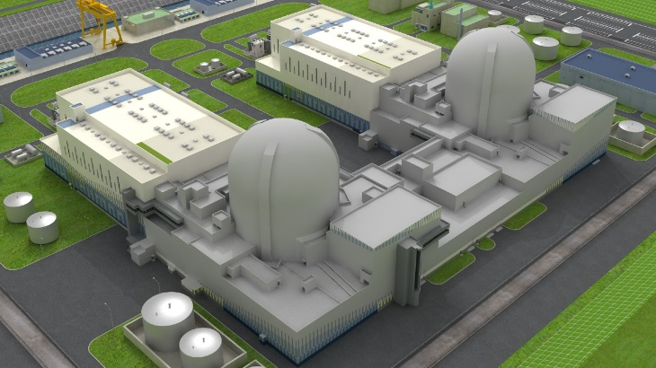 jaderná energie - US NRC zajišťuje certifikaci reaktorového návrhu APR-1400 - Zprávy (APR 1400 plant rendering KHNP) 1