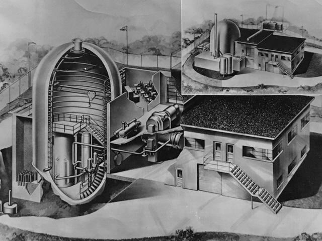 jaderná energie - Historická vojenská jaderná elektrárna SM-1 - Fotografie (SM1 ALCO press photo) 2