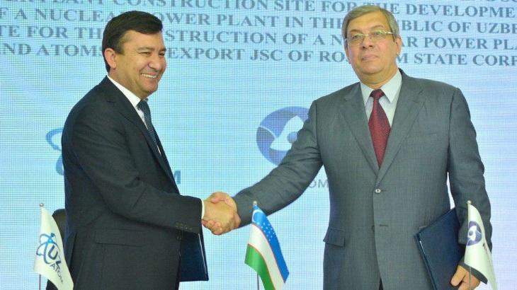 jaderná energie - Rusko a Uzbekistán souhlasí se zahájením průzkumu nové jaderné elektrárny - Zprávy (Uzatom Rosatom May 2019 Uzatom) 1
