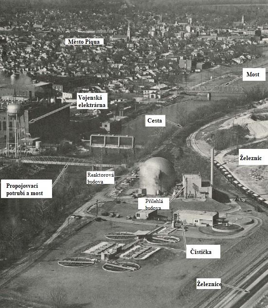 jaderná energie - Reaktory chlazené organickým chladivem - Zprávy (Piqua Nuclear Facility labeled courtesy Atomics International AI AEC 12832) 3