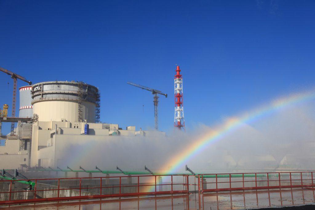 jaderná energie - Maďarská delegace navštívila Běloruskou JE - Zprávy (Testování bazénů rozstřiku v Běloruské JE v roce 2019) 1
