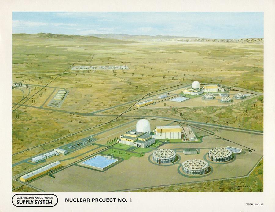 jaderná energie - Jaderné umělecké koncepty - Zprávy (WPPSS Project 1 artists concept) 1