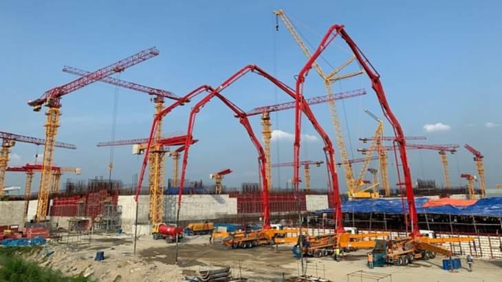 jaderná energie - Bangladéš dokončila základy druhé strojovny jaderné elektrárny Rooppur - Zprávy (Rooppur 2 turbine hall basemat August 2019 ASE) 1