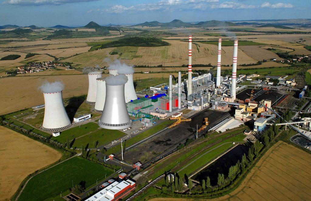jaderná energie - Hospodářské noviny: UHLÍ KONČÍ. CESTOU JE JÁDRO I ZELENÉ ZDROJE - Zprávy (01 ppc pocerady letecka vizualizace) 1