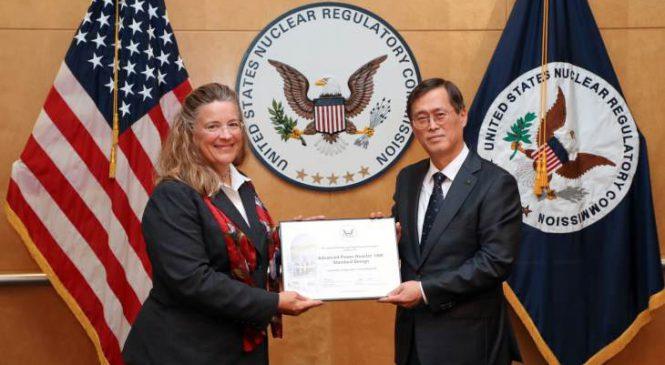 Korejský reaktorový návrh certifikován v USA