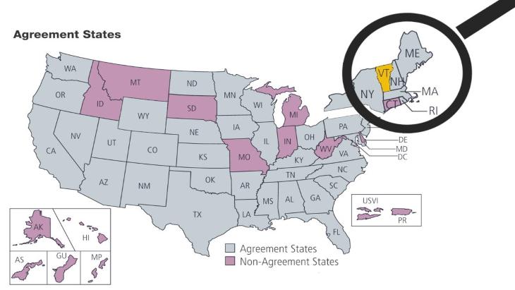 jaderná energie - Vermont se stal zodpovědným za své jaderné materiály - Zprávy (Vermont becomes Agreement States NRC) 2