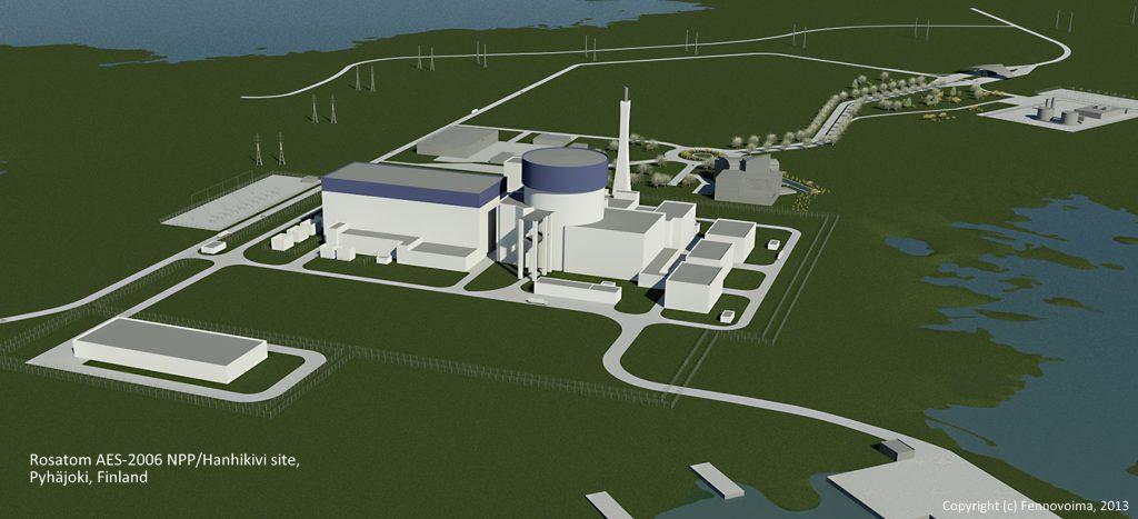 jaderná energie - V Japonsku začala výroba základních komponent pro JE Hanhikivi - Zprávy (Vizualizace JE Hanhikivi zdroj Fennovoima) 1