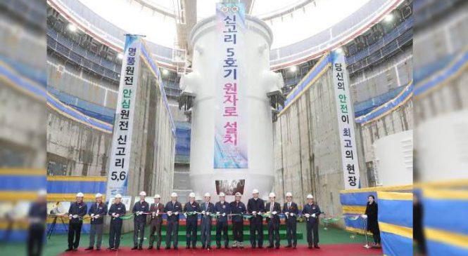 Reaktorová nádoba třetího korejského APR-1400 byla úspěšně nainstalována