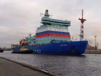 Nejvýkonnější ledoborec na světě, Arktika, začíná provozní zkoušky