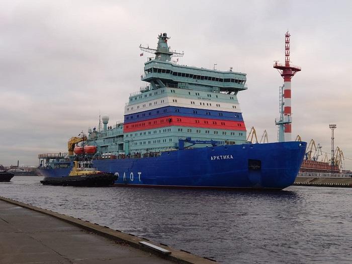 jaderná energie - Nejvýkonnější ledoborec na světě, Arktika, začíná provozní zkoušky - Zprávy (Rosatomflot Artktika) 1