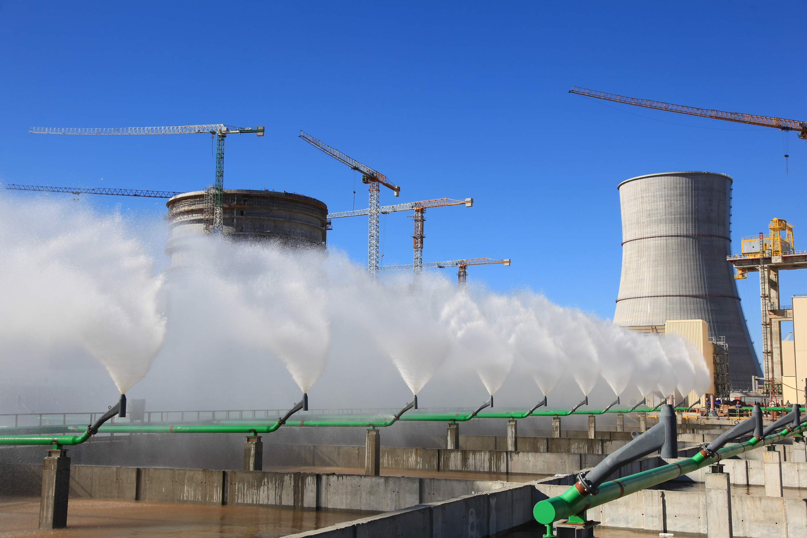 jaderná energie - Ostrověcká JE je nově součástí Belenergo - Zprávy (Testování bazénů rozstřiku v Ostrověcké JE v roce 2019) 2