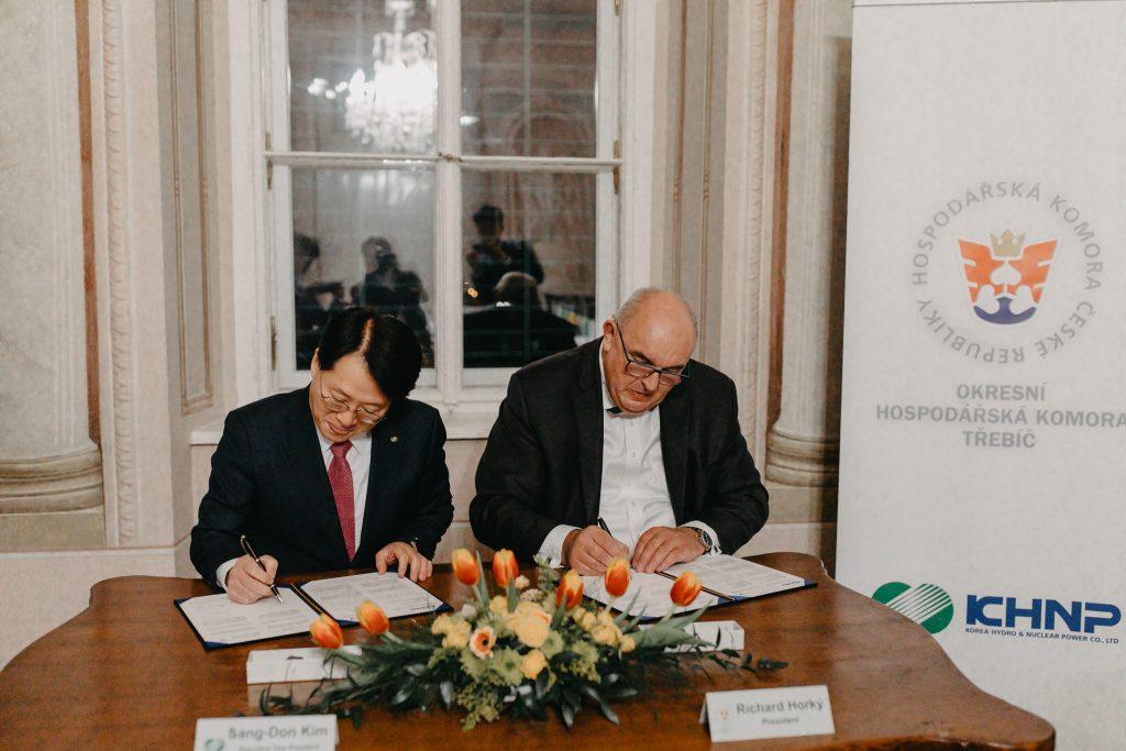 jaderná energie - Okresní hospodářská komora Třebíč uzavřela zahraniční partnerství s korejskou energetickou firmou KHNP - Zprávy (IMG 7681) 1