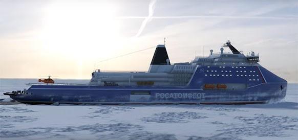 jaderná energie - V Rusku postaví nejvýkonnější ledoborec na světě - Zprávy (vizualizace ledoborce Leader) 1