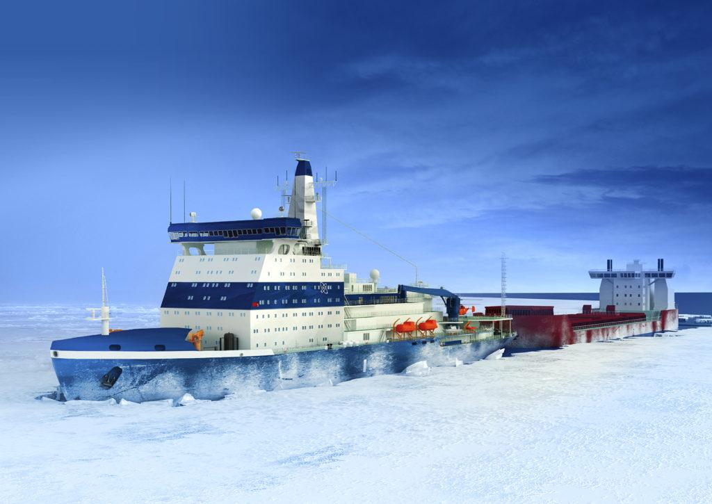 jaderná energie - Čtvrtý ledoborec třídy LK-60 má kýl, loď nese jméno Jakutija - Zprávy (Vizualizace jaderného ledoborce třídy LK 60 1) 1