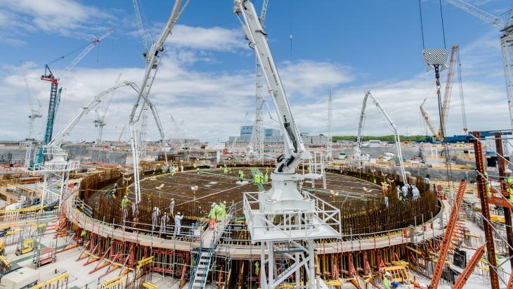jaderná energie - Boj o jadernou energii pokračuje - Zprávy (Hinkley Point C unit 1 basemat completion June 2019 EDF Energy) 1