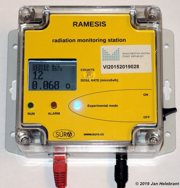 jaderná energie - Česká republika má monitorovací systém radiační situace pro veřejnost - Zprávy (RAMESIS stanička) 6