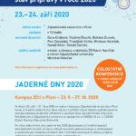 Jaderné dny 2020 proběhnou 23. 9. - 27. 10.