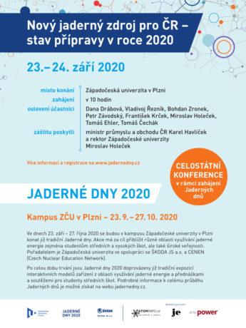 jaderná energie - Jaderné dny 2020 proběhnou 23. 9. - 27. 10. - V Česku (norm SKOJ INZERAT Seminar 2020 Jaderne dny 210x280mm v4) 1