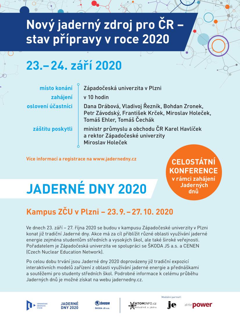 jaderná energie - Jaderné dny 2020 proběhnou 23. 9. - 27. 10. - V Česku () 2