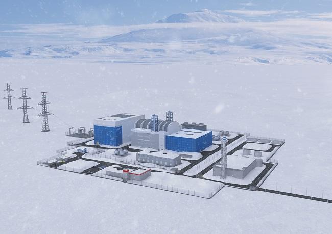 jaderná energie - V roce 2028 bude v Jakutsku postavena malá jaderná elektrárna - Inovativní reaktory (Vizualizace malé jaderné elektrárny s reaktorem RITM 200 v Jakutsku) 3
