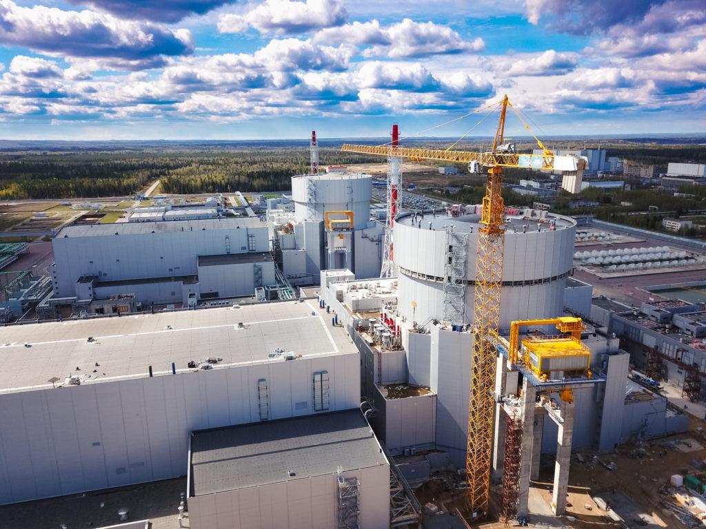 6. blok Leningradské JE s reaktorem VVER-1200 prověřovaný Rostechnadzorem