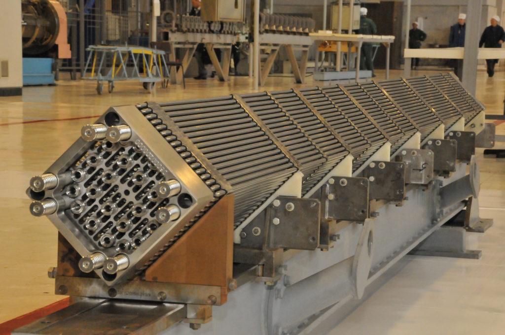 Palivová kazeta TVS Kvadrat vyráběné TVELem pro západní tlakovodní reaktory. (Zdroj: TVEL)