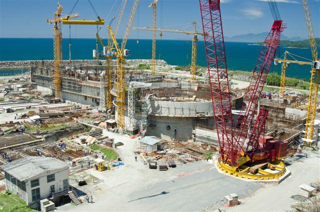 Třetí blok jaderné elektrárny Angra s německým 1400MWe tlakovodním reaktorem. (Zdroj: Eletronuclear)