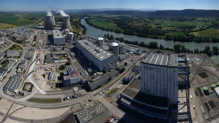 Bloky 2 až 5 v jaderné elektrárny Bugey jsou 900MWe bloky a byly spuštěny v 1978 až 1980. (Zdroj: EDF)