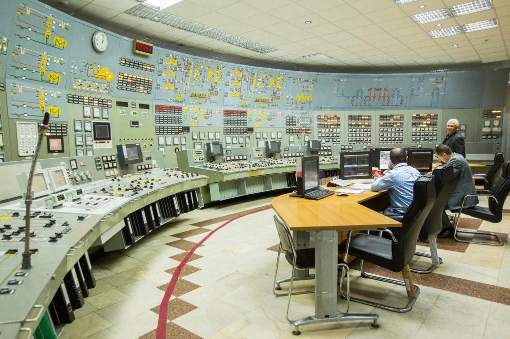 Původní velín Arménské jaderné elektrárny. (Zdroj: Rosatom)