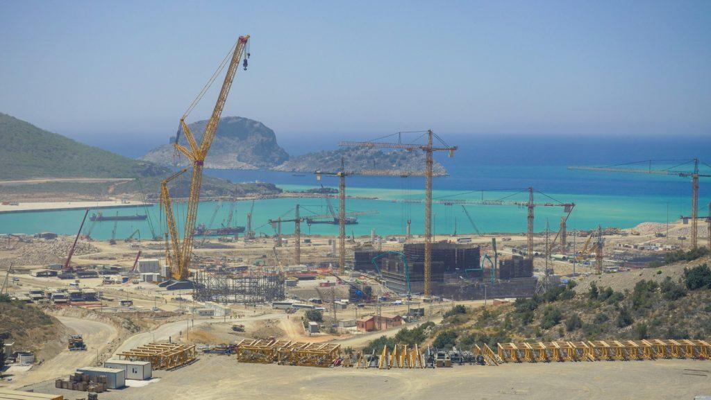 Staveniště turecké JE Akkuyu. (Zdroj: Rosatom)