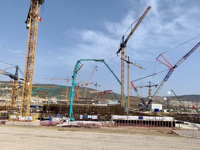 Zahájení betonáže základů třetího bloku JE Akkuyu. (Zdroj: Rosatom)