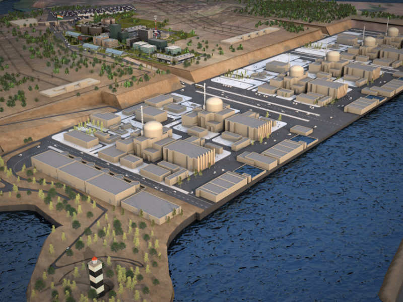 Vizualizace šesti bloků EPR v jaderné elektrárně Jaitapur. (Zdroj: EDF)