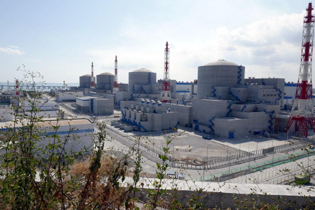 Čtyři jaderné bloky VVER-1000 v čínské lokalitě Tchien-wan. (Zdroj: Rosatom)